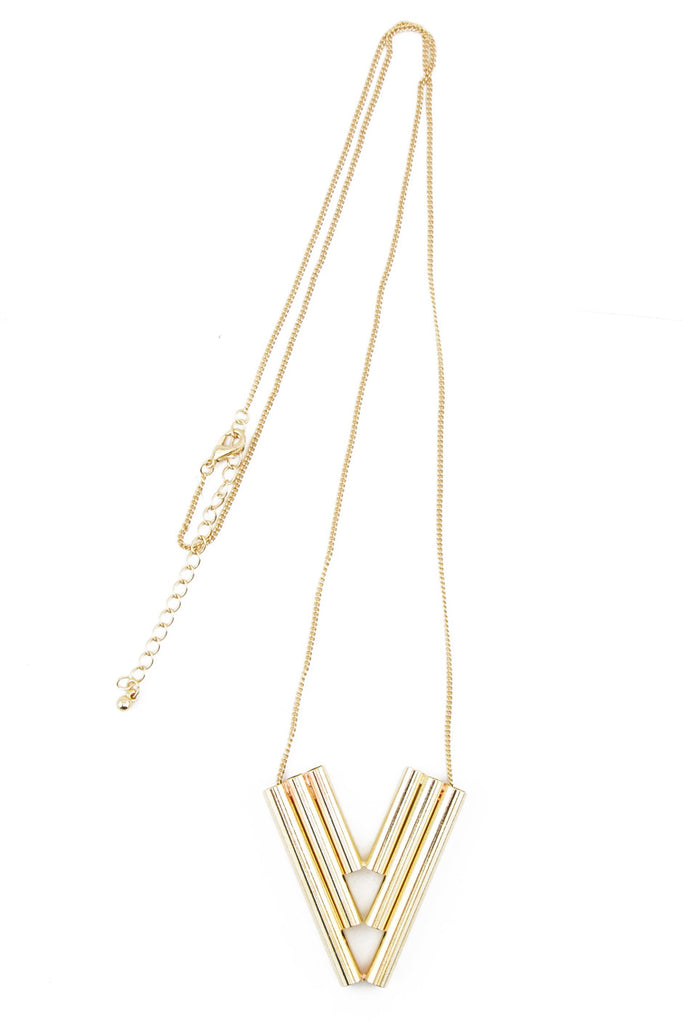 TRIBAL GOLD PIPE NECKLACE
