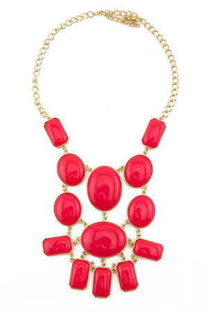 LARGE CORAL STONE NECKLACE - Haute & Rebellious