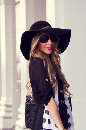 Floppy Wool Boho Hat - Black (Final Sale) - Haute & Rebellious