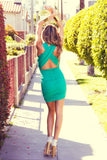 CLAUDIA CROSS BACK KNIT DRESS