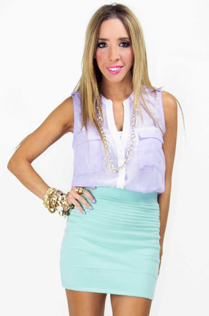 MINT MINI PENCIL SKIRT