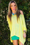 NEON LIME YELLOW TOP - Haute & Rebellious
