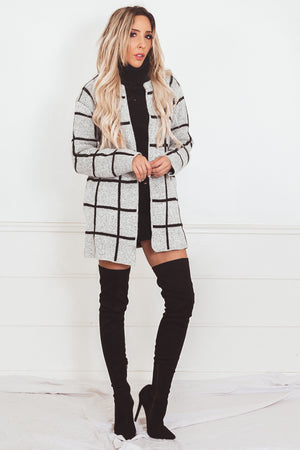 Plaid Cardigan Sweater