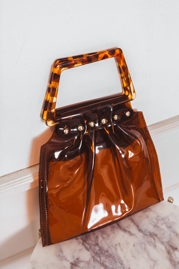 See-Through Brown Slim Bag