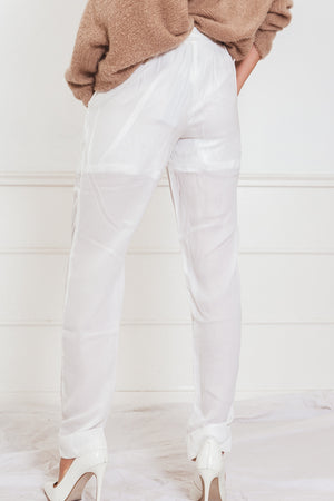 Track Pants - White