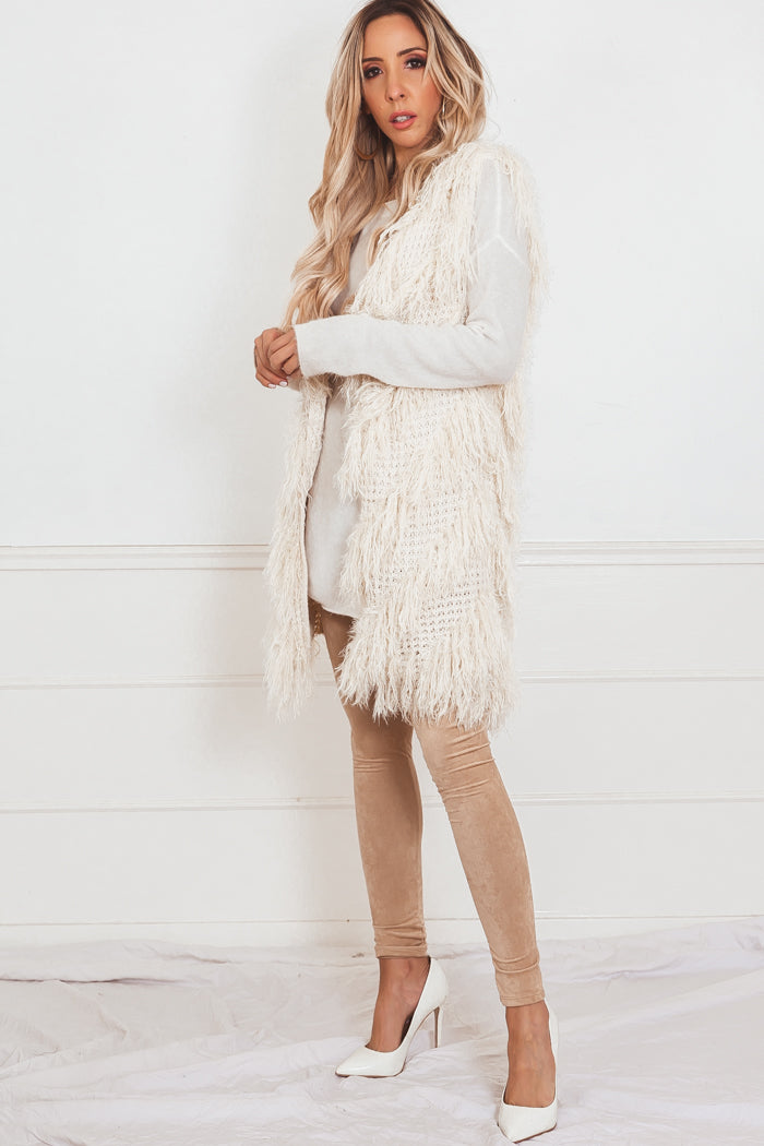 Shag Fur Long Vest