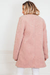Soft Fur Coat - Blush