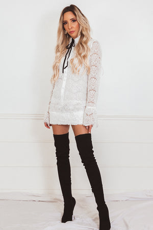 Jeana Collar Lace Dress