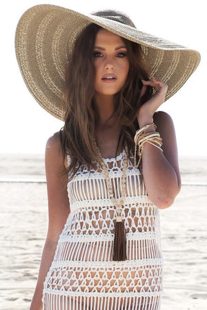 Lana Floppy Brim Straw Hat - Brown - Haute & Rebellious