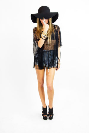 LAIN FRINGE LACE TOP - Haute & Rebellious