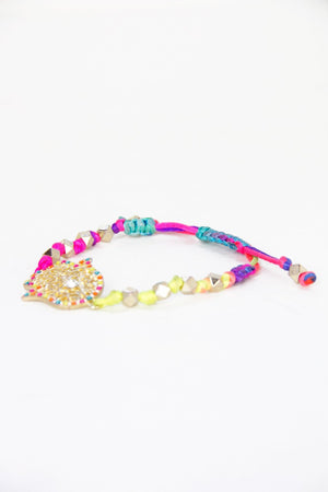 MULTICOLOR EYE BRACELET - Haute & Rebellious