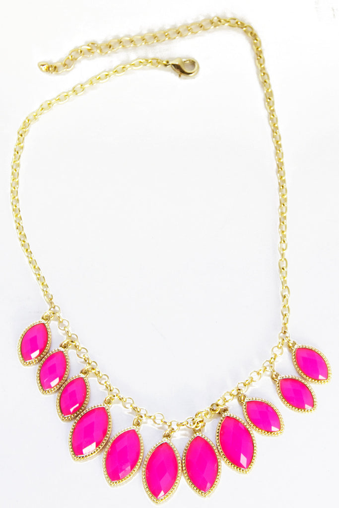 ZOE NECKLACE - Neon Pink