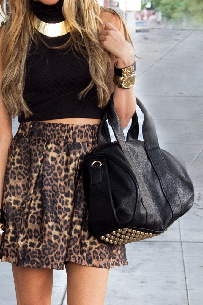 STUDDED BAG - Black/Gold