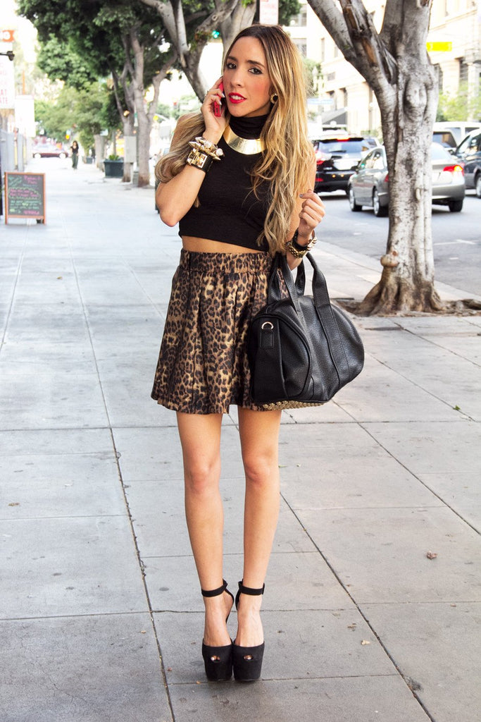 LEOPARD FULL SKIRT - Haute & Rebellious