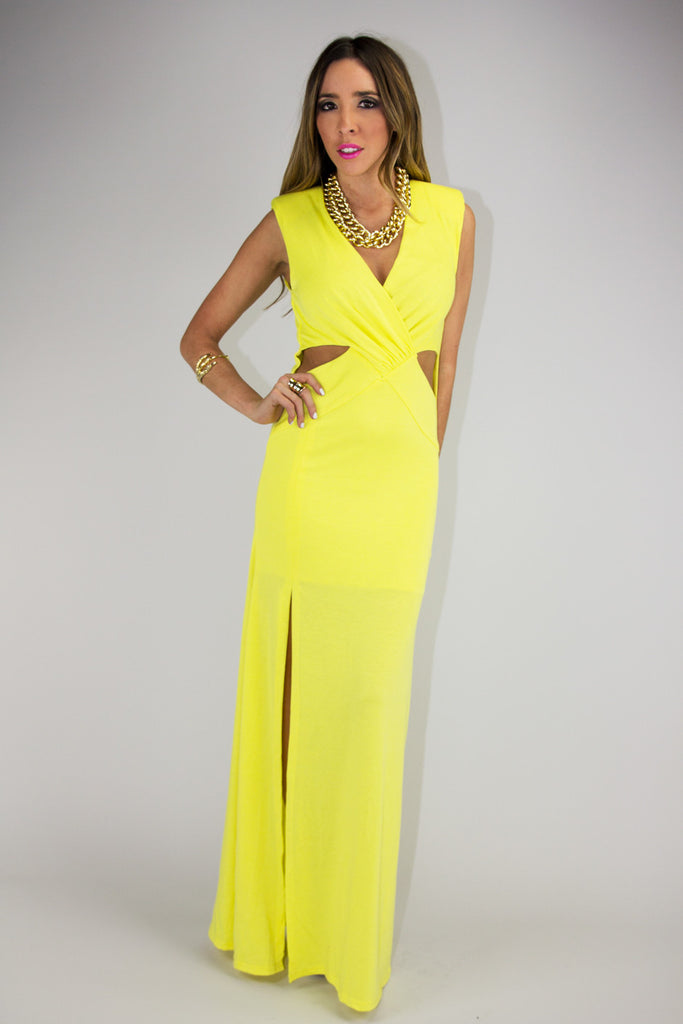 SIDNEY CUTOUT MAXI DRESS