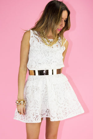 ERICA LACE DRESS - White - Haute & Rebellious