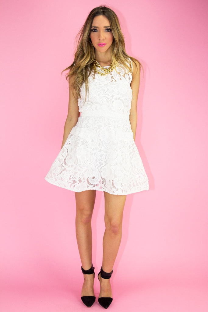 ERICA LACE DRESS - White