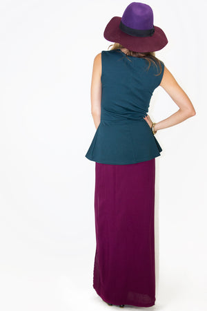 ONE SLIT SKIRT - Burgandy - Haute & Rebellious