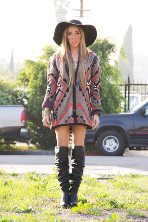 DAKOTA TRIBAL SWEATER - Haute & Rebellious