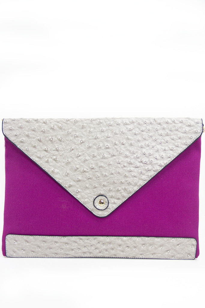 OVERSIZED PURPLE FUCHSIA CLUTCH