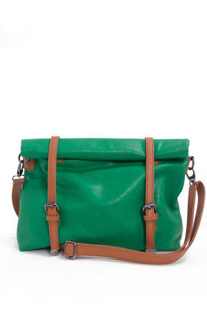 NEWMAN MESSENGER BAG - Green - Haute & Rebellious