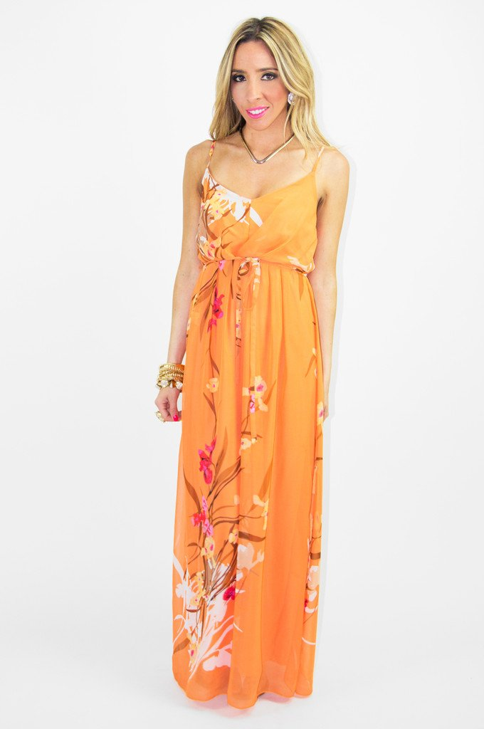 ALOHA FLOWER CHIFFON DRESS