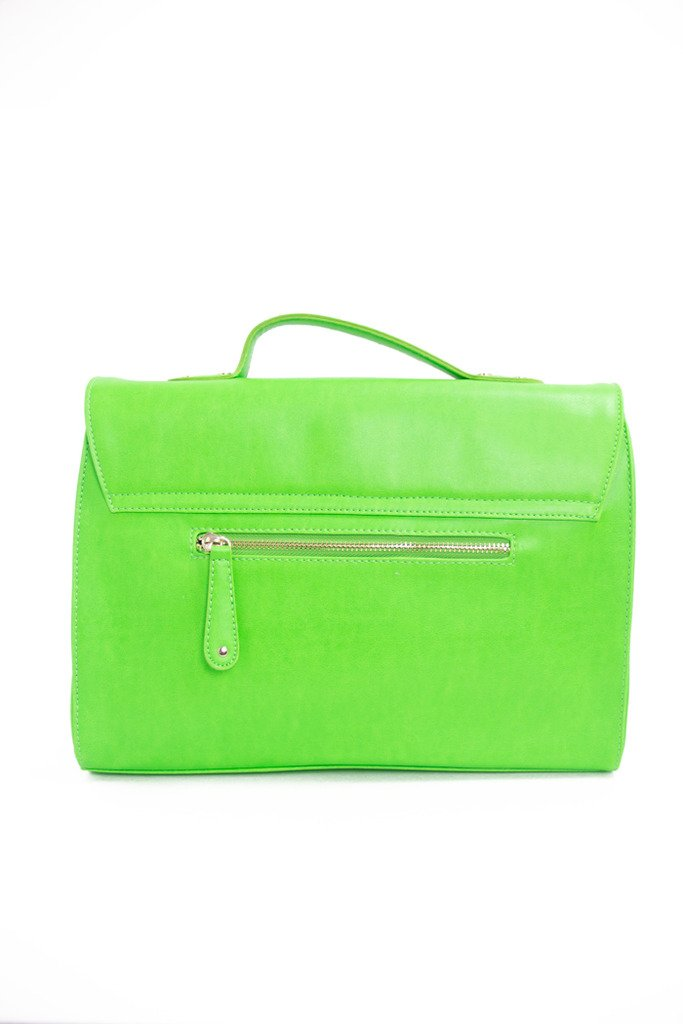 NEON GREEN HIGHLIGHTER BAG - Haute & Rebellious