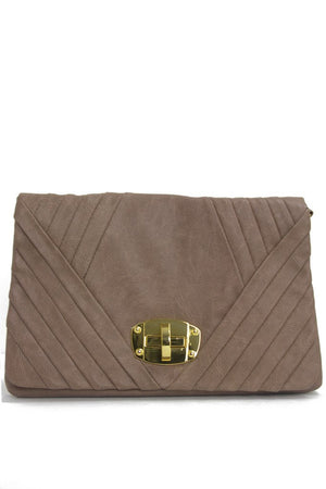 BURNED TAUPE CHAIN PURSE - Haute & Rebellious