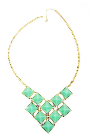 MULTI STONE NECKLACE - Gold/Mint - Haute & Rebellious