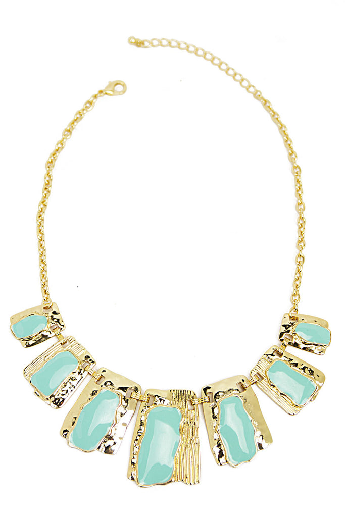 SUN SHAPE NECKLACE - Mint/Gold