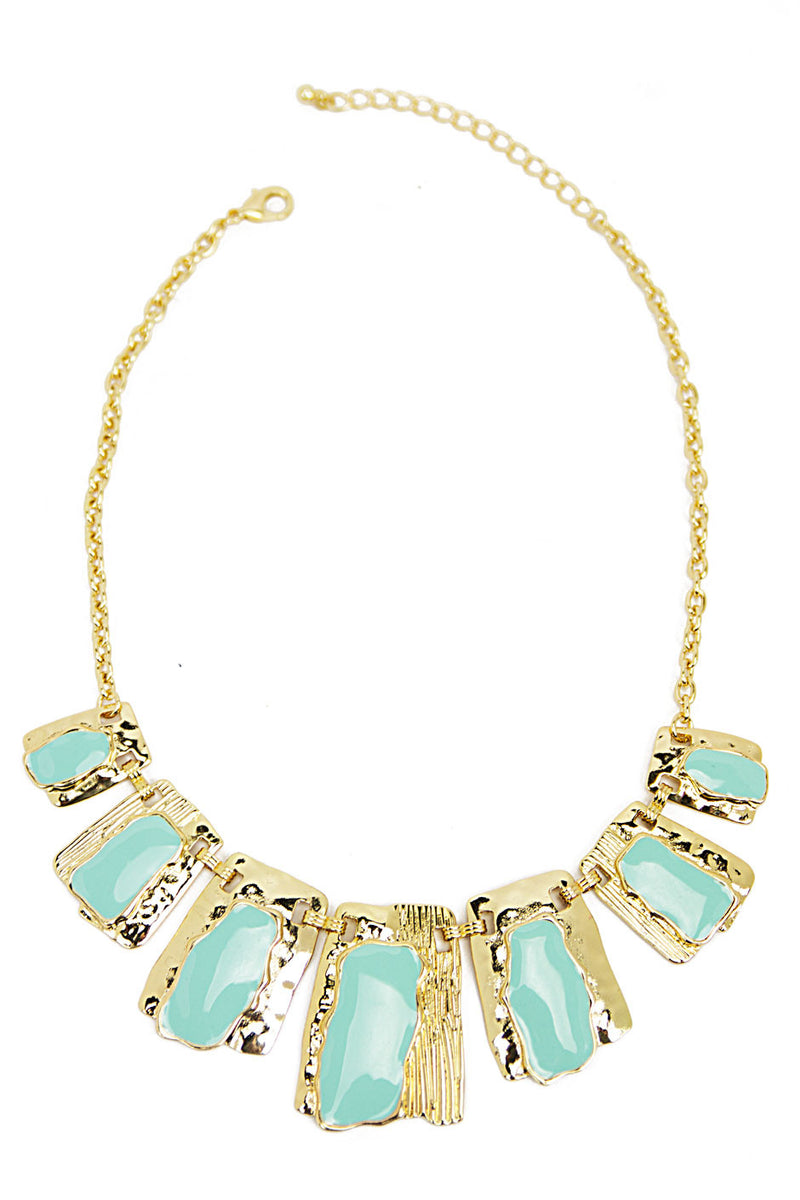 SUN SHAPE NECKLACE - Mint/Gold - Haute & Rebellious