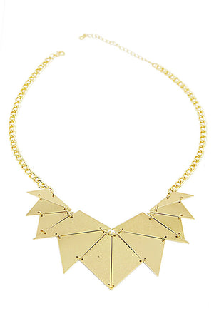 LIZ PLATED NECKLACE - Gold - Haute & Rebellious