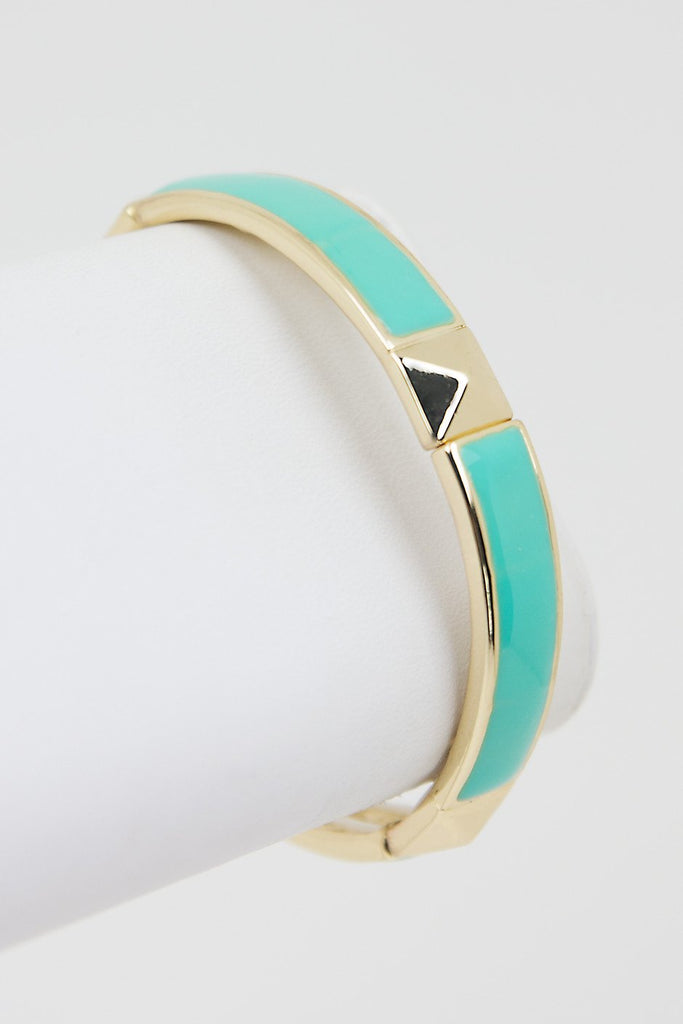 GOLD STUD & COLOR BRACELET - Mint