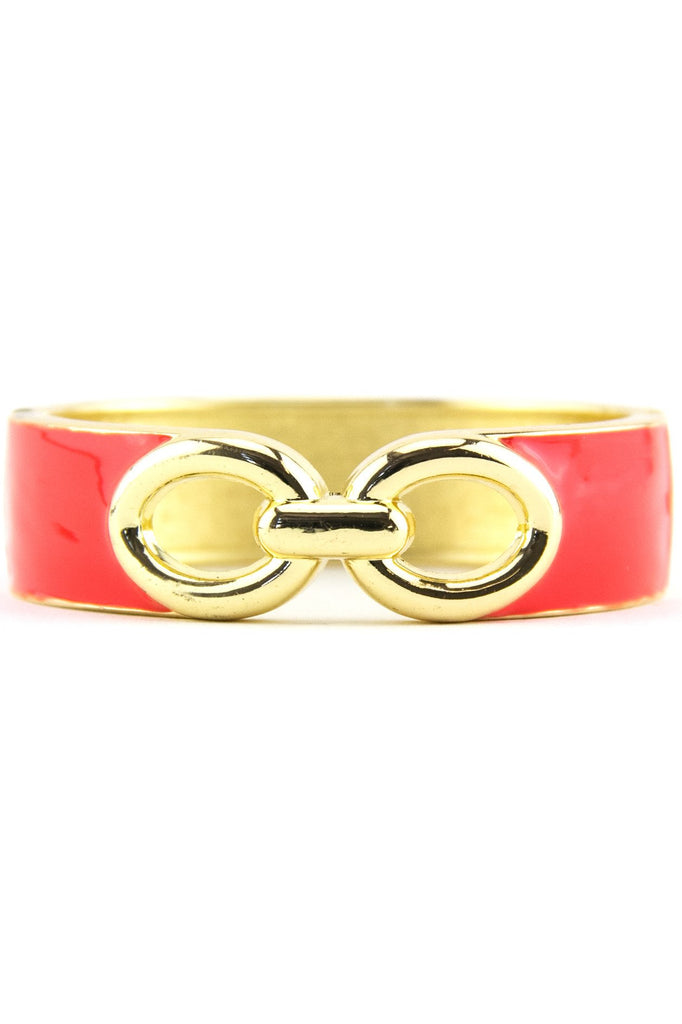 INTERLOCKING GEL BANGLE - Coral