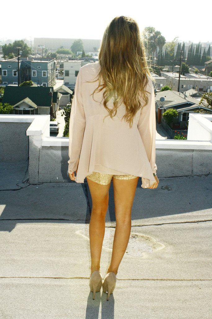 GOLD SEQUIN SHORTS