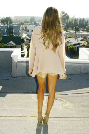 GOLD SEQUIN SHORTS - Haute & Rebellious