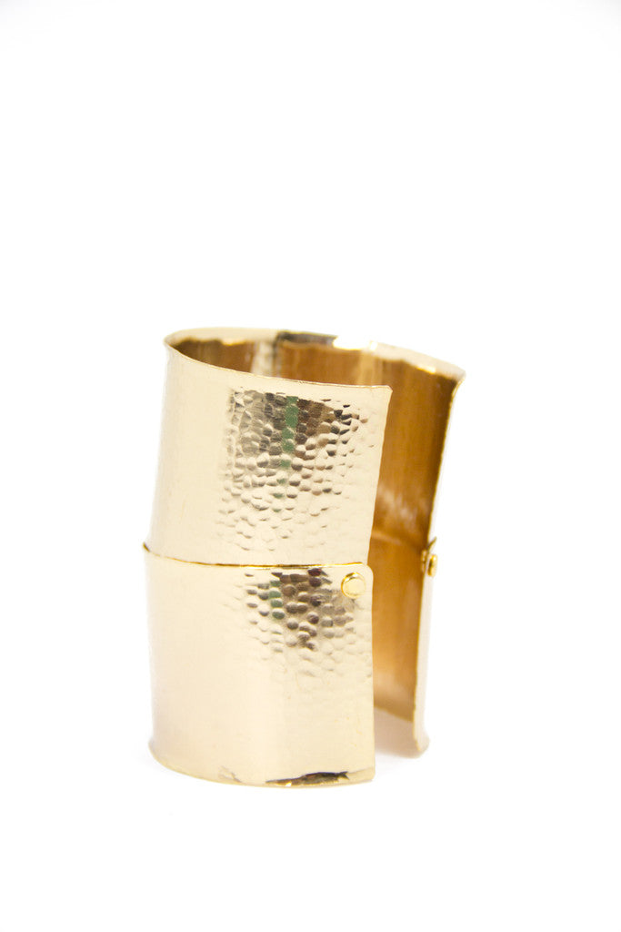 OVERSIZED CUFF - GOLD - Haute & Rebellious