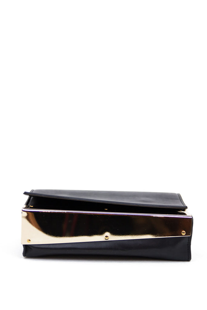 VINCE GOLD PLATED CLUTCH