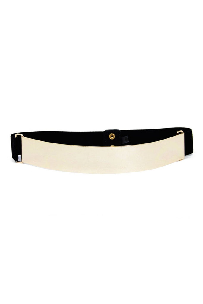 GOLD PLATED BELT - Black