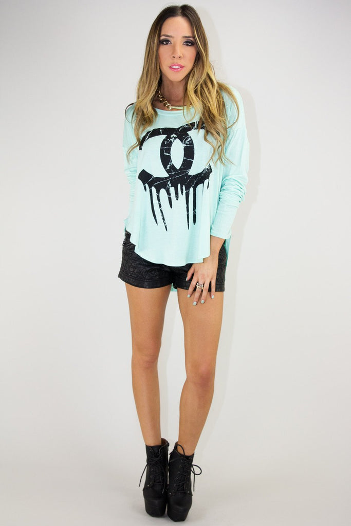 DRIPPING CHANEL LONG SLEEVE - Mint
