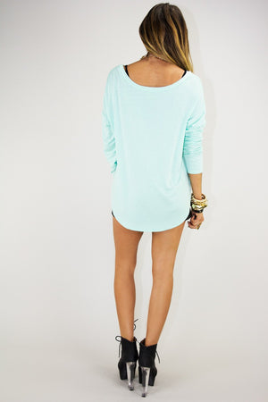 DRIPPING CHANEL LONG SLEEVE - Mint - Haute & Rebellious