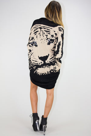 TIGER COCOON SWEATER - Haute & Rebellious