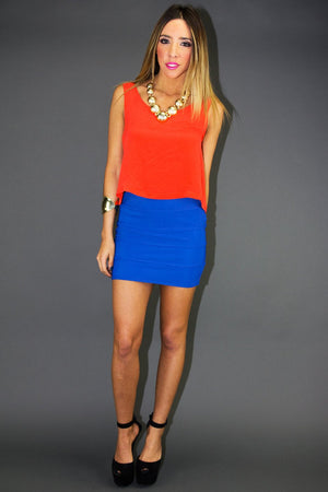 MINI SKIRT - Electric Royal Blue - Haute & Rebellious