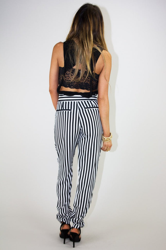 CLASSIC VERTICAL STRIPE WOVEN PANT