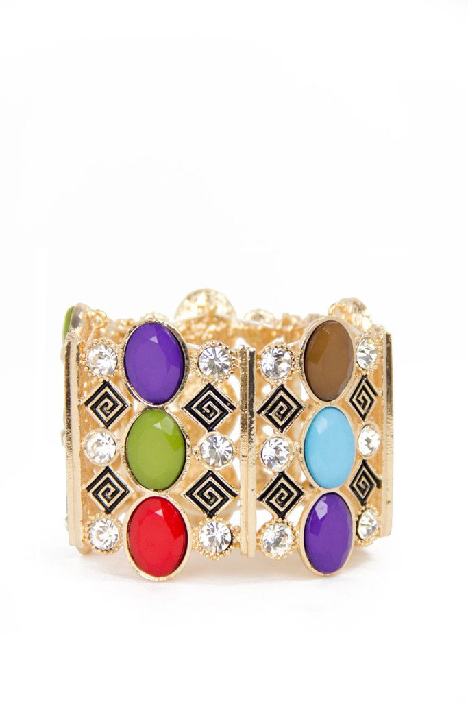 MULTI COLOR BRACELET - gold - Haute & Rebellious