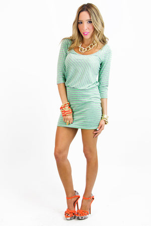 STRIPED DRESS - Green - Haute & Rebellious