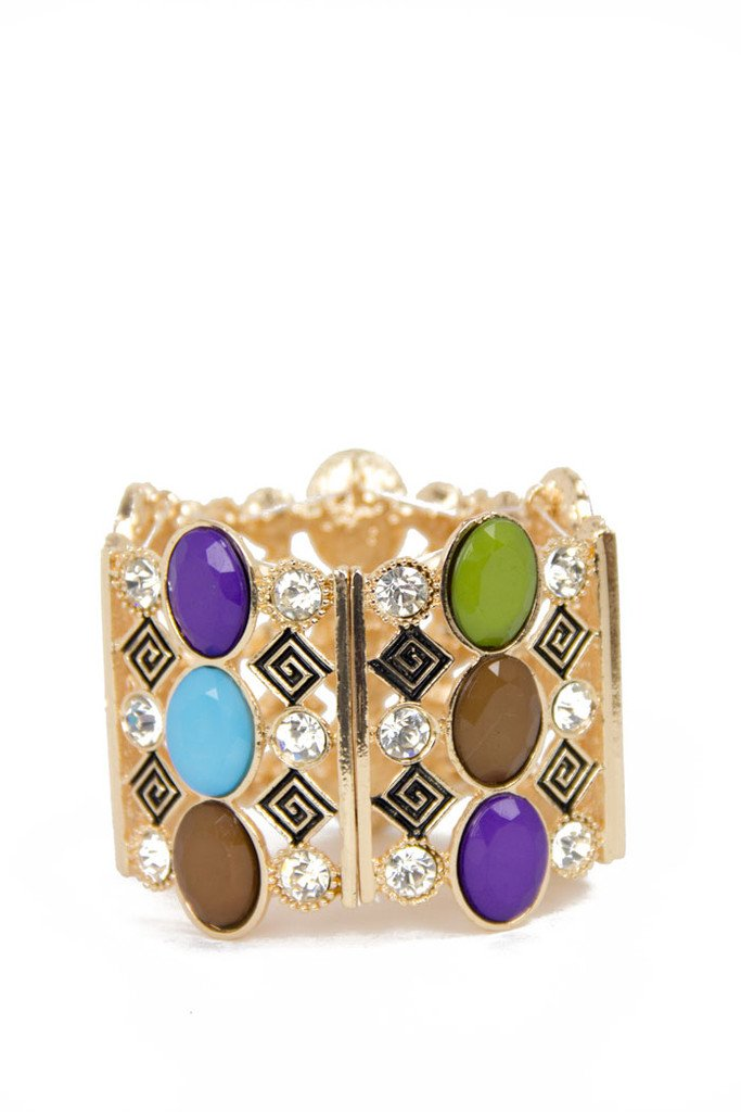 MULTI COLOR BRACELET - gold