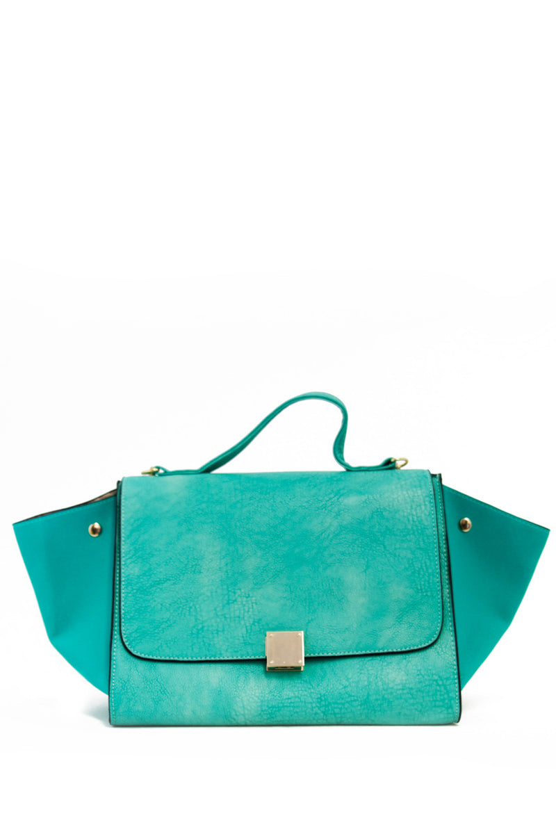 TRAPEZE BAG WITH STRAP - Electric Mint - Haute & Rebellious