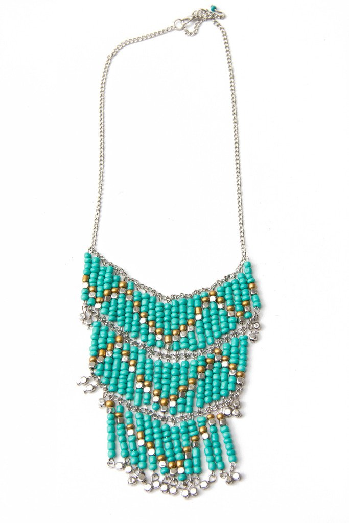 KENYA TURQUOISE BEADED NECKLACE