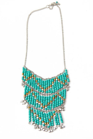 KENYA TURQUOISE BEADED NECKLACE - Haute & Rebellious